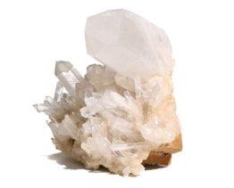 bergkristal cluster met punten, a kwaliteit
