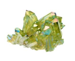 groene aura kwarts cluster