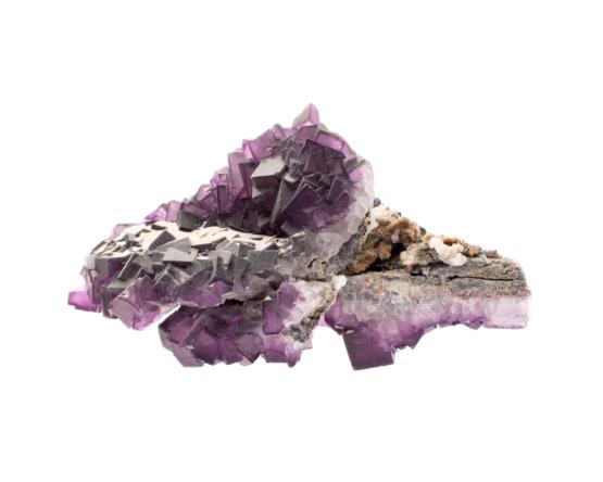 paarse fluoriet met octaëder vormen